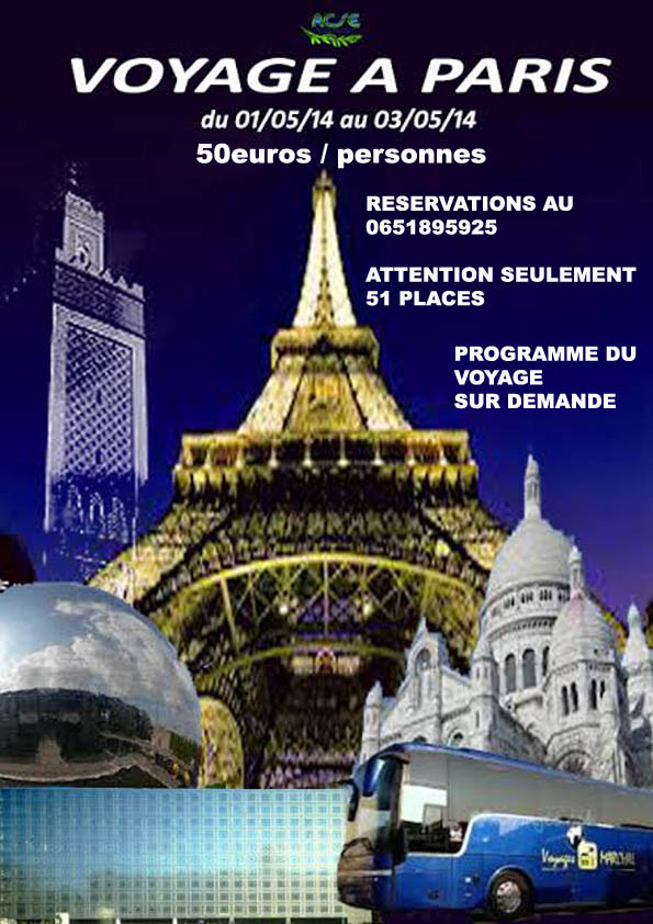 L acse organise un voyage a paris l 39 association pour la culture la sci - Vacances paris avril ...