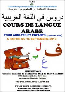 Cours de langue arabe 2013 copie