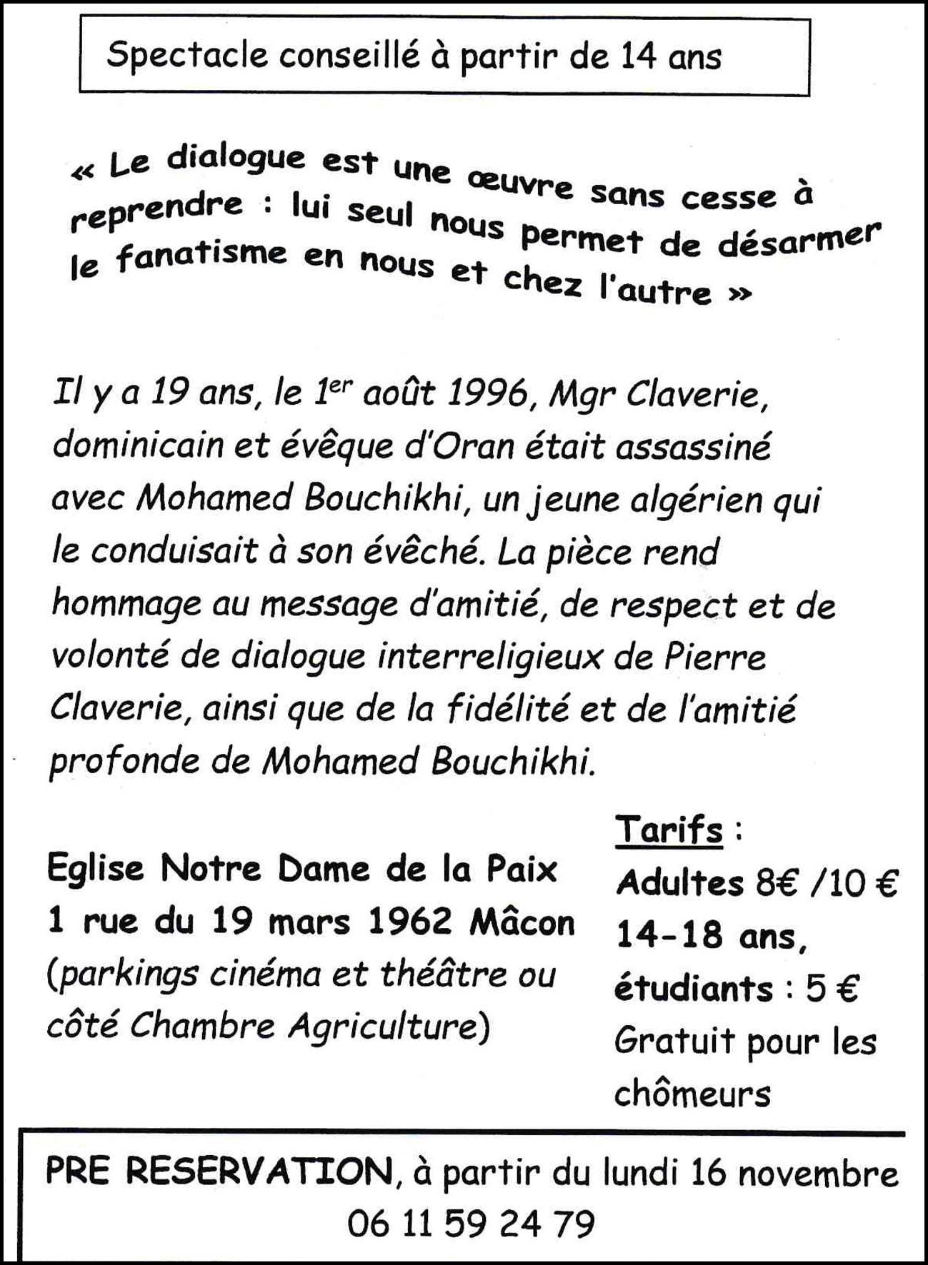 Pièce de Théâtre Pierre et Mohamed 2 copie